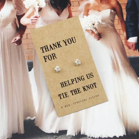 Wedding For You by Thank You Bridesmaid Knot Earrings By Wue