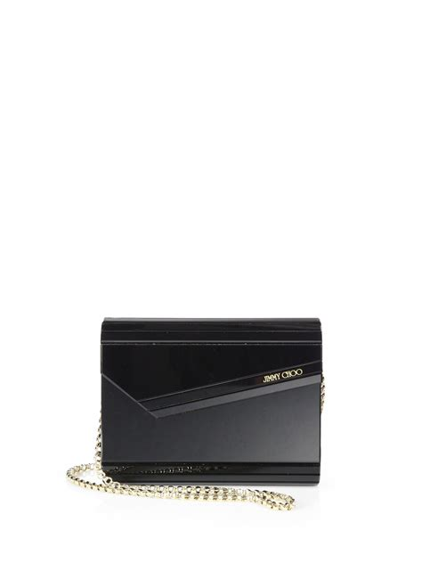 Jimmy Choo Slate Clutch by Lyst Jimmy Choo Cara S Suede Slouchy Clutch In Black
