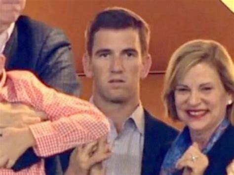 Eli Manning Sends Fiancee Abby Mcgrew Into Freezing Temps So He Wont Be Jinxed by Sugar Bits Bullock And Husband Hit By