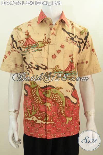 Batik Hem Ikan pusat batik jual hem cowok size l kwalitas premium motif kapal ikan batik masa kini
