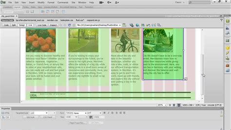 Dreamweaver Tutorial Fluid Grid Layout | fluid grid layout in dreamweaver cs6 youtube