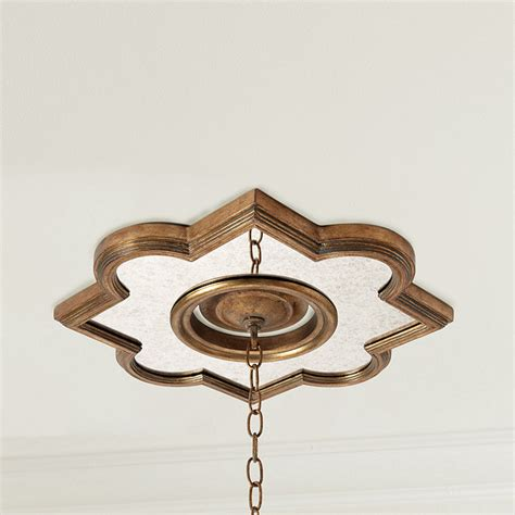 Quatrefoil Ceiling Light Sauville Quatrefoil Ceiling Medallion Ballard Designs