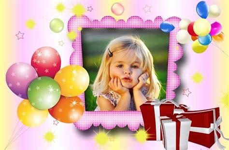 montajes y fotomontajes infantiles para ni os y bebes fotomontaje de cumplea 241 os con globos y regalos