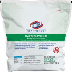 clorox healthcare hydrogen peroxide disinfecting wipes wipe   pallet white office depot