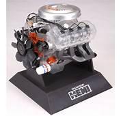 Dodge 426 Hemi Engine Plastic Model Kit Testors 1/4