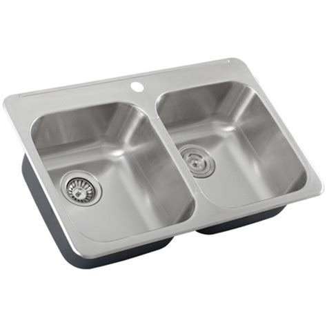 Overmount Kitchen Sinks Stainless Steel Ticor S998 Overmount 18 Stainless Steel Bowl Kitchen Sink