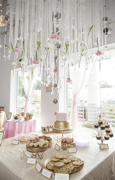 Pink And Gold Baby Shower Decor by Kara S Ideas Royal Pink Gold Baby Shower