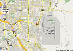 map of inn express colorado springs airport