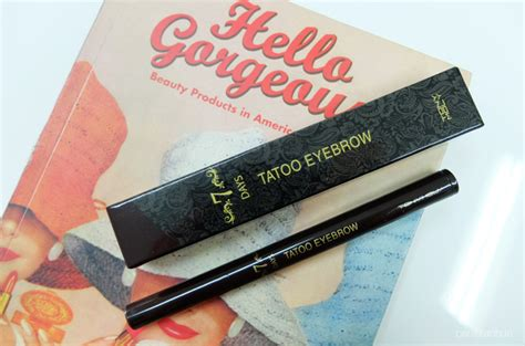 Tony Moly 7 Days Tatto Eyebrow tony moly 7 days eyebrow carizza chua