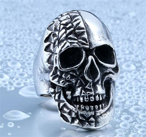 wholesale best stainless steel jewelry skull ring