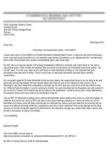 Letter Of Harassment Complaint Template by Sle Letter Of Complaint Harassment Contoh 36