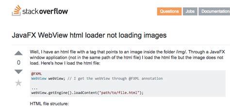 javafx webview layout javafx webview html loader not loading images