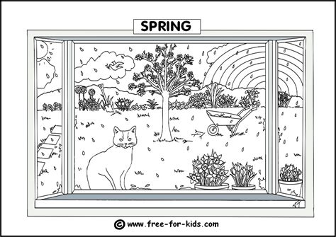 free coloring pages of the four seasons