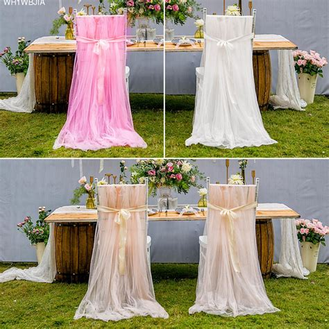 wedding soft tulle chair cover birthday party baby shower