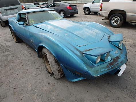 salvage 1979 chevrolet corvette for sale blue 1979