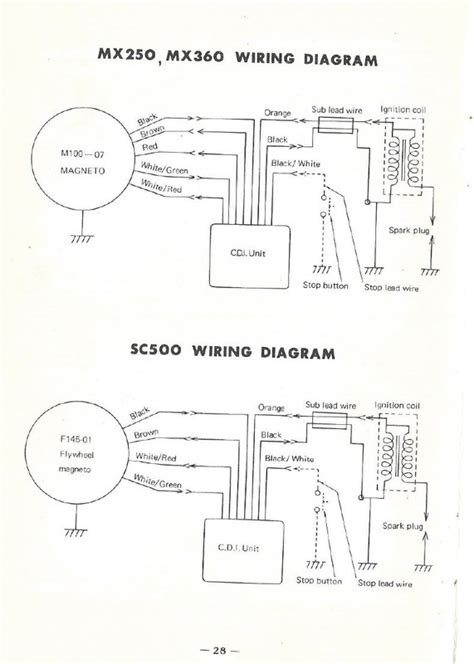 yamaha sr250 simplified wiring diagram yamaha wirning