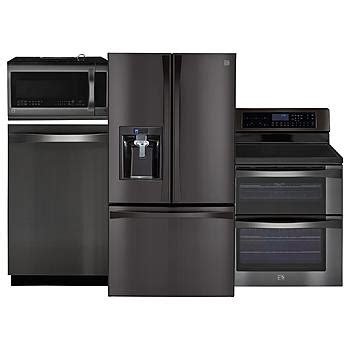 sears kitchen appliance packages kenmore kenmore elite black stainless steel kitchen