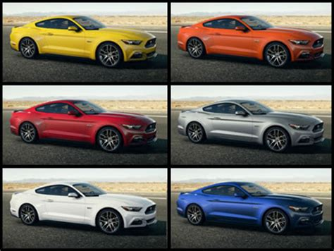 gallery of the 2015 mustang in all colors mustang heaven