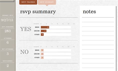 Wedding Invite List Template For Excel 2013 Rsvp Tracker Template