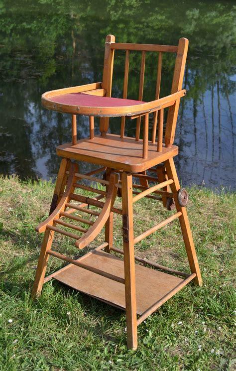 chaise haute enfant bois les jouets de notre enfance