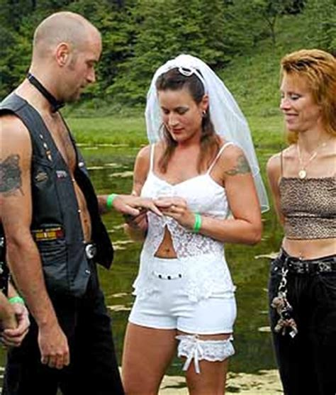 White Trash Wedding Dresses by Weddingzilla Biker Motorcycle Weddings