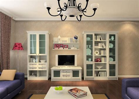 Glass Cabinets Living Room by White Living Room Cabinets With Glass Accent 5485 Home