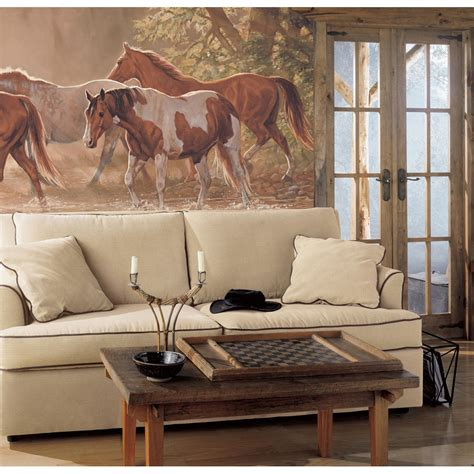 western wall mural western cowboy decor ideas