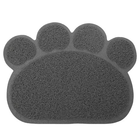 Paw Cleaning Mat by Puppy Paw Shape Placemat Pet Cat Dish Bowl Feeding