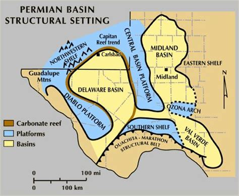 permian basin texas map permian basin structural setting permian basin geology basins maps and fields
