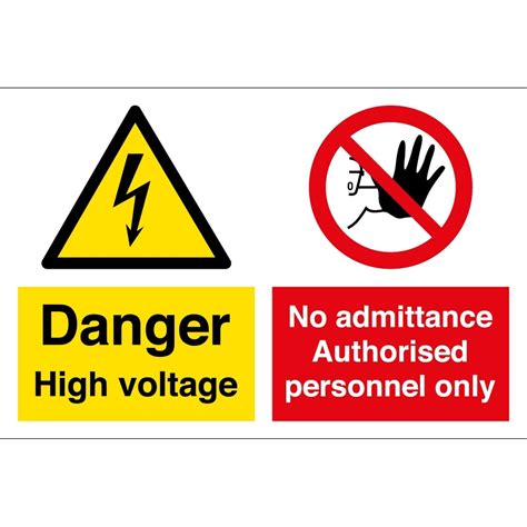 high voltage safety high voltage authorised personnel only signs from key