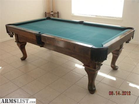 ae schmidt pool table armslist for sale trade fs ft 8 ae schmidt pool table
