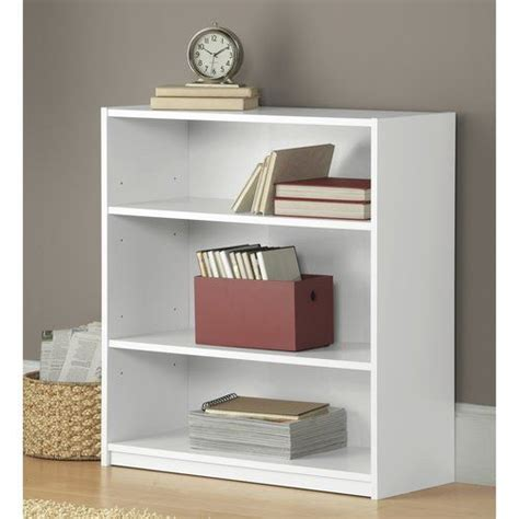Mainstays 3 Shelf Bookcase Black by Bookcase White White Furniture And Bookcases On