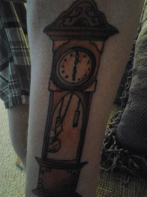 grandfather clock tattoo pin by allison powers on tattoos