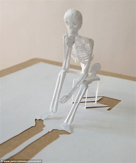 How To Make Skeleton With Paper - paper skeleton on a chair chairblog eu