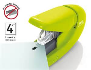 Office Desk Corner Paper Clinch Staple Free Stapler Stapless Plus