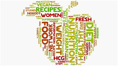 10 Words To Remember For A Healthy by Wordcloud Stock Footage