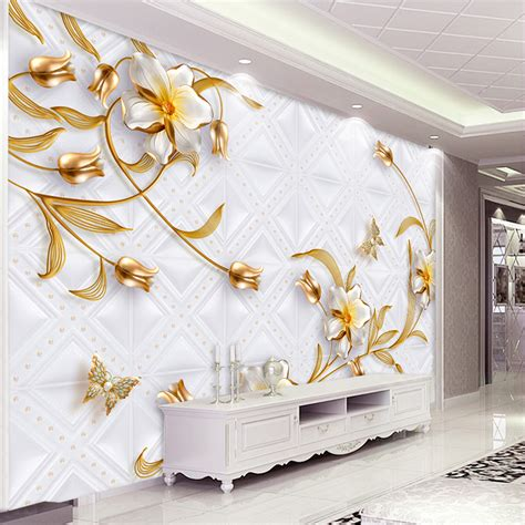 jewellery flower diamond background wall 3d wallpaper custom 3d wall murals wallpaper luxury european style 3d