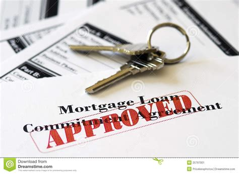 house loan approval real estate mortgage approved loan document stock image image 25797001