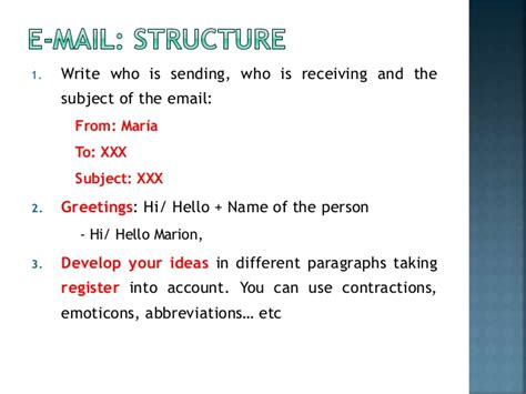 how to an how to write an informal email