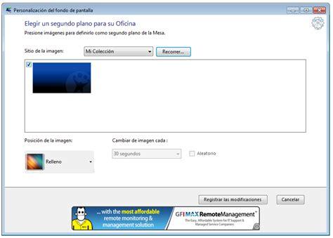 wallpaper en windows 7 starter c 243 mo cambiar el wallpaper de windows 7 starter