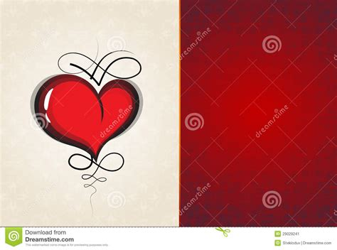 vintage heart pattern heart with vintage pattern stock image image 29029241