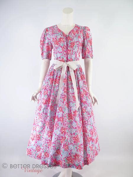 laura ashley floral cotton dress  dresses