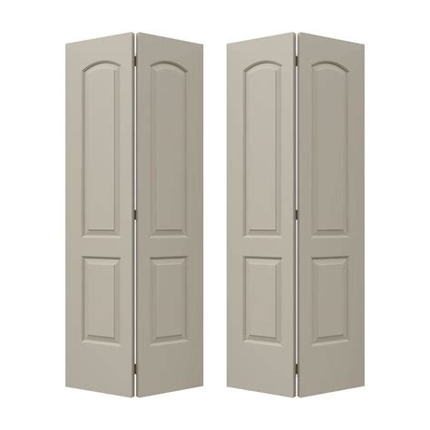Jeld Wen 72 In X 80 In Continental Desert Sand Painted 72 Closet Doors