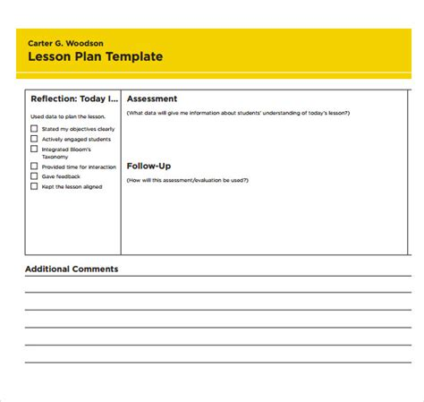 sample printable lesson plan template   documents   word