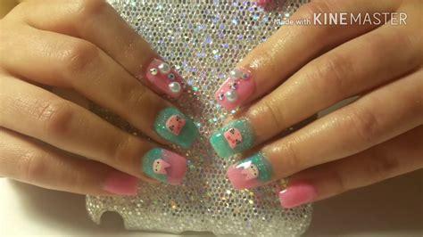 imagenes de uñas acrilicas encapsuladas u 241 as acrilicas kawaii para ni 241 as kawaii acrylic nails