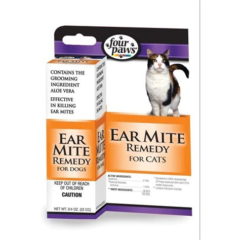 four paws ear mite remedy cats 75 oz cat supplies