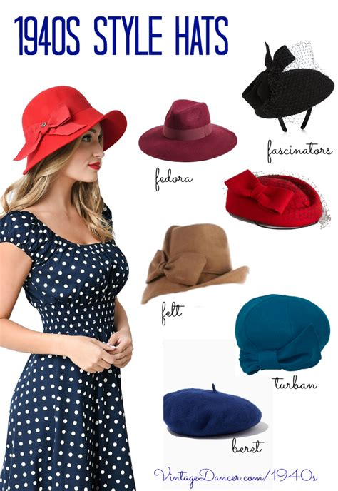 vintage inspired 1940s style hats for 1940s hats