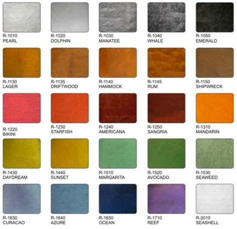 what color is metallic metallic colors corvixx polymers