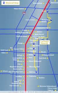 Las Vegas Tram Map by Las Vegas Monorail Map Ti Mirage Tram