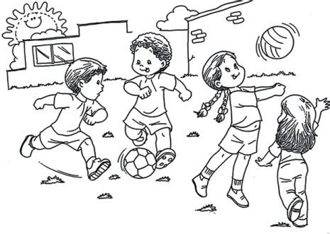 imagenes de unos niños jugando para colorear dibujos de ni 241 os jugando para pintar colorear im 225 genes